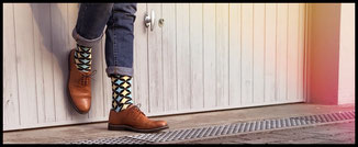 Francis et son ami Socken Toms Showroom Fashion Schweiz
