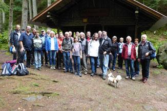 Nach der Vesperpause an der Rolf Hammann Hütte