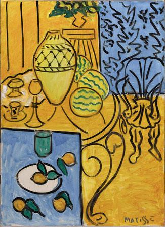 """H. Matisse, """"Interieur jaune et bleu"""""""