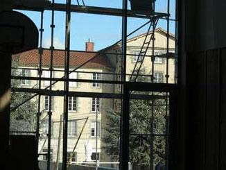 Massillon vu depuis le gymnase en construction (2010)