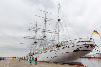 Segelschulschiff Gorch Fock im Trockendock