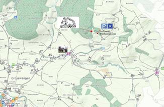 Lageplan Waldspielgruppe Grosswangen
