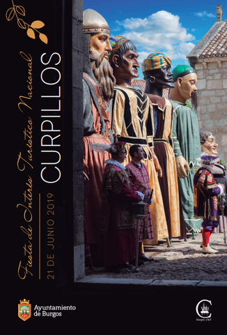 Cartel y programa de la Fiesta del Curpillos en Burgos