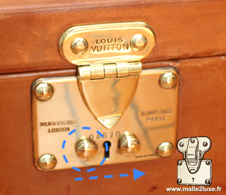Louis vuitton double push-button lock circa 1910 louis vuitton trunk