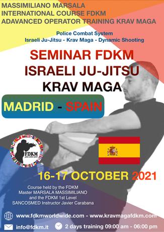 SEMINAR FDKM ISRAELI JUJITSU KRAV MAGA SPAIN MADRID