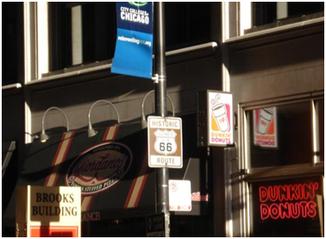 Route 66 und Dunkin' Donuts