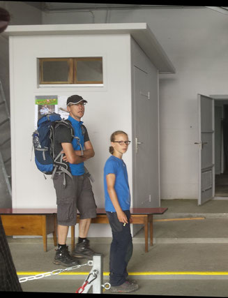 Regort Komposttoilette bei der Palfries-Bergstation