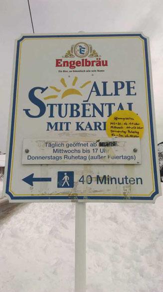 Familienausflug zum Karl auf der Alpe Stubental