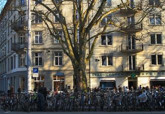 25. März 2015 - Zürich ist - laut Umfrage 2014 - keine Velostadt