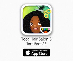 Best Toddler Apps for Flights - Toca Hair Salon 3
