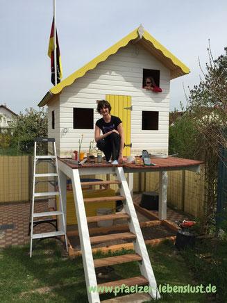 Stelzenhaus 2-Stöckig Speicher Schlafplatz Aufbau selbst