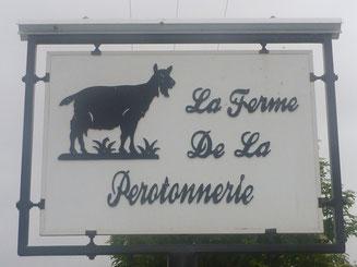 Signalisation de la ferme de La Pérotonnerie de Rom - Sud Deux-Sèvres