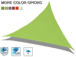 vela #tenda #ombreggiante #ombra #sole #impermeabile #triangolare #PES #verde #lime