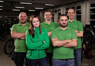 Das Team des e-motion e-Bike Premium Shops Velbert