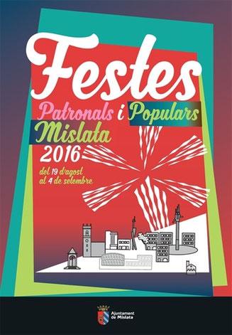 Fiestas de Mislata 2016 Cartel y Programa