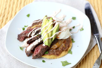 Healthy Steak Huevos Rancheros Recipe.  Perfect light and impressive weekend breakfast or brunch!