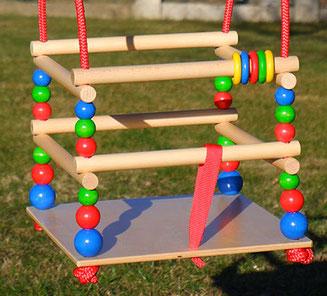 Hess Gitterschaukel aus Holz, Hess Schaukel, Kinder Holzschaukel, Holzschaukel Baby