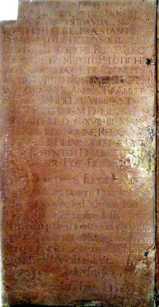 Grabinschrift Nikolaus Lotichiust