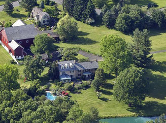 Top view of this year's Bucks County Designer House and Gardens - Serendipity Farm