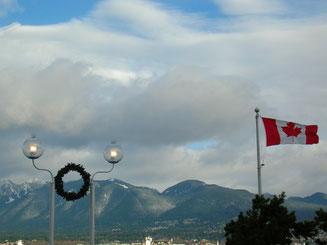 In Kanada sieht man fast so viele Flaggen wie in den USA.