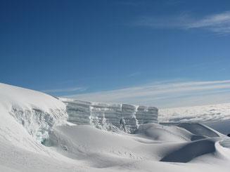 Eine Schichttorte aus Eis