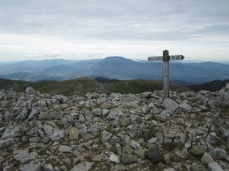 最高点からの伊吹山遠景