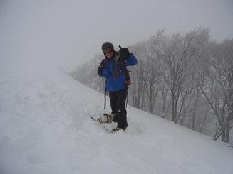 前大日山頂にてS水さん
