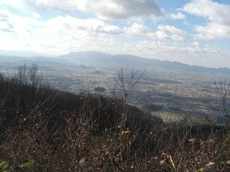 奈良盆地と金剛・葛城山