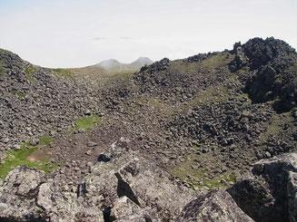 トムラウシ山も火口を持つ山だった。