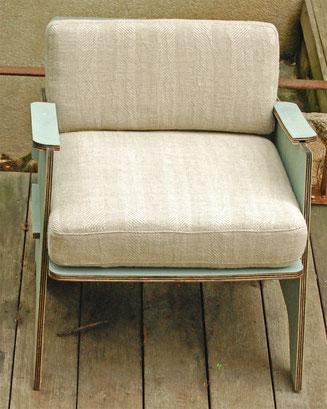 coussin chanvre sur fauteuil