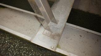 UK besteht aus 1mm Stahlblech (= Gewindelänge), ohne Ballastierung -> Standsicherheit?