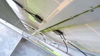 Modulmontage auf Stoß -> Rahmen- und Glasschäden durch thermische Dehnung // Kabelzuführung der Modulanschlussdose zeigt nach oben -> nur bei Genehmigung des Herstellers zulässig!