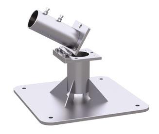 may Ankerplatte SZ127 ✔ für may SCHATTELLO Großschirm Gastrozubehör Einbau des Schirms in eine Terrasse
