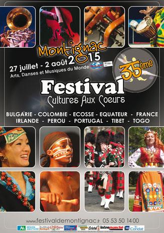 montignac en fête durant toute une semaine ? c'est possible !!! le festival Cultures aux Coeurs va nous emporter aux quatre coins du Monde...