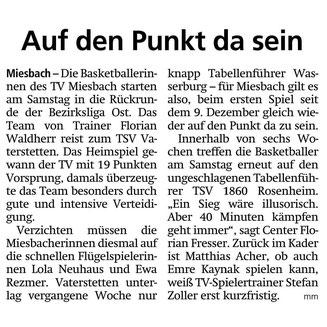 Artikel im Miesbacher Merkur am 26.1.2019 - Zum Vergrößern klicken