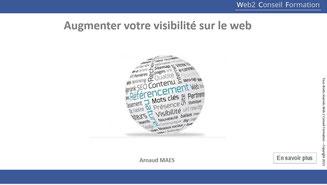 Formation Augmenter votre visibilité sur le web du Cabinet Web 2 Conseil Formation