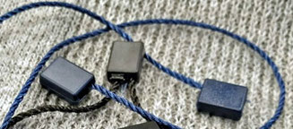 Marchamos Textiles 200mm Azul Marino cordón poliester IK08