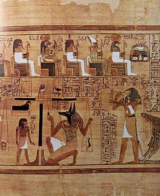 bemalter Papayrus, Ägypten, ca 1420 v.Chr.