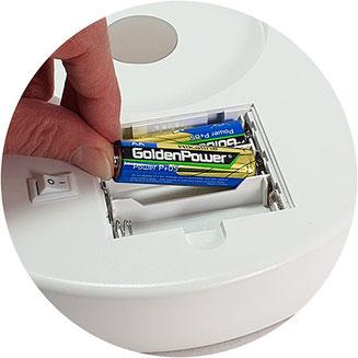 kosmetikspiegel batterie