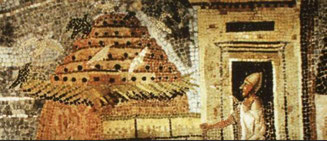 1st century Rome mosaic of pigeon breeding unit