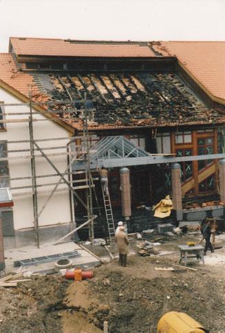 Stadthalle Idstein, Feuerteufel, Brand