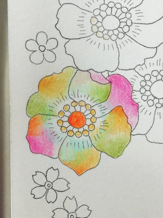 5色で描いた絵の写真