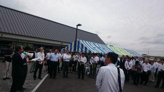 道の駅「発酵の里こうざき」での視察の様子