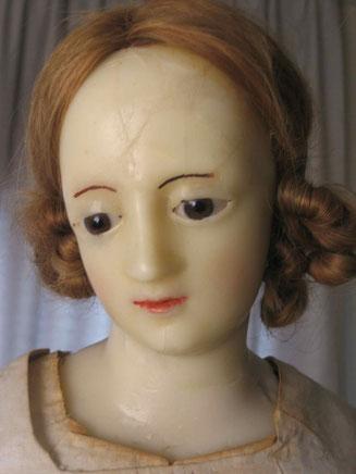 Madonna, Detail Kopf nach den Massnahmen