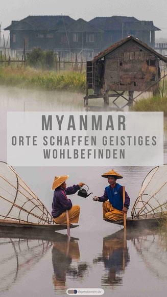Myanmar Orte schaffen geistiges Wohlbefinden