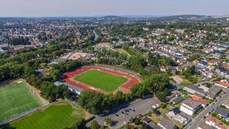 Luftaufnahme des Ludwig-Jahn-Stadions