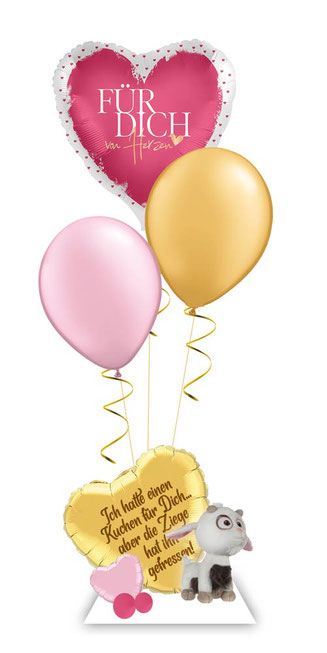 Ballon Luftballon Heliumballon Deko Ziege Überraschung Mitbringsel Minion Ballongruß Versand Unverbesserlich 3 Idee Happy Birthday Alter Zahl Namen  Personalisierung Geschenk Ballonpost Ich hatte einen Kuchen für Dich aber die Ziege hat ihn gefresse