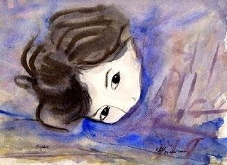 Sophie, aquarelle.D.Petit