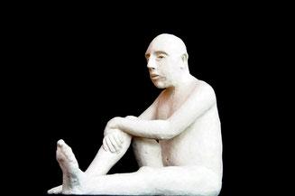 L'Homme du hammam , terre cuite, D.Petit
