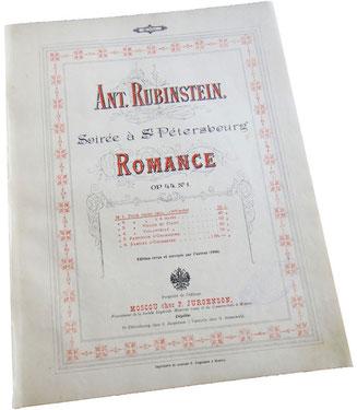 Антон Рубинштейн, Романс (без слов) опус 44 № 1, обложка